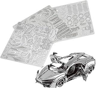 SanDoll メタル素材 パズル プラモデル 3D立体タイプ オモチャ プレゼント (スーパーカー)