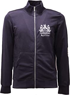 Aquascutum 2722AE Felpa Uomo Navy Blue Full Zip Cotton Sweatshirt Man