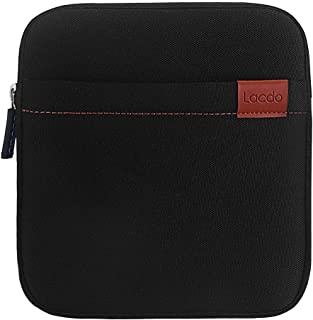 Lacdo Waterproof External USB CD DVD Writer Blu-Ray Protective Storage Carrying Case Bag Compatible Apple MD564ZM/A SuperDrive,Magic Trackpad, Samsung/LG/Dell/ASUS/External DVD Drives, Black