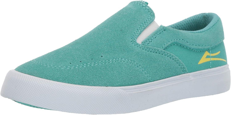 Lakai Unisex's Footwear Summer 2019 Owen Kids Teal Suede Size 12 Tennis shoes, M US