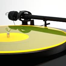 Acrylic Turntable Mat   YellowLit   LP Slipmat
