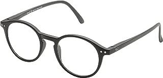 Blue Light Blocking Computer Glasses, Anti UV Eye Strain Clear Lens Reading Video Eyewear, Unisex - Black +0.00 No Magnification