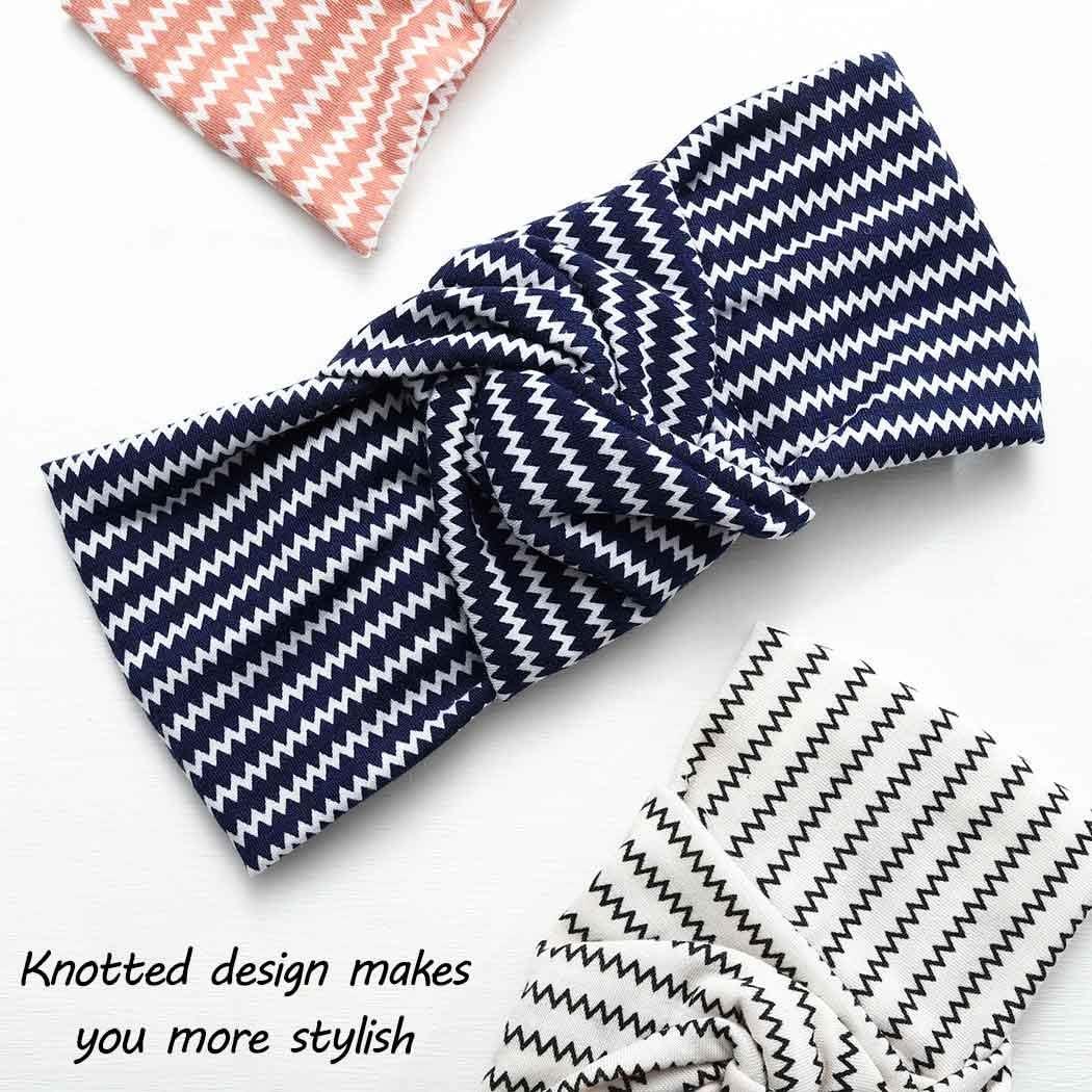 Fashband Diademas para Mujer 3 Piezas Boho Criss Cross Head Wrap Hair Band Turbante el/ástico Banda para el Cabello Yoga Correr Deportes Entrenamiento Diademas para ni/ñas.