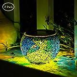 Amazon Com Litefuze Mosaic Glass Rechargeable Solar Lamp