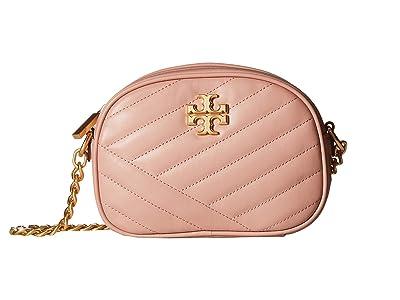 Tory Burch Kira Chevron Camera Bag (Pink Moon) Handbags