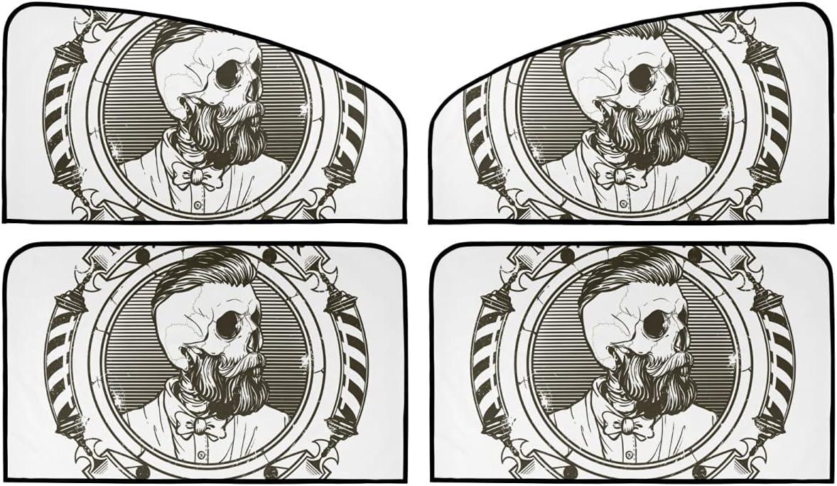 4 Piece Set Special sale item New item Magnetic Car Window Barb - Sun Vintage Skull Blocker