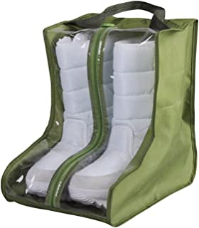 Portable Shoes Boots Storage Bag Dustproof Protector Box Container Foldable Travel Long Shoe Boots Cover Organizers Carrying Holder Tote Shoescase Space Saver Bag Non-Woven Fabric with Clear Window