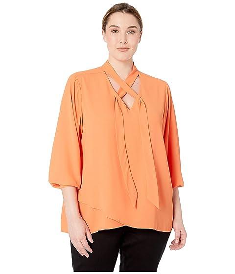 4aa091bd5bc Karen Kane Plus Plus Size Tie Neck Crossover Top at Zappos.com
