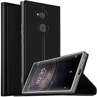 Sony Xperia XA2 Ultra case, Flip case cover for Sony Xperia XA2 Ultra, Black
