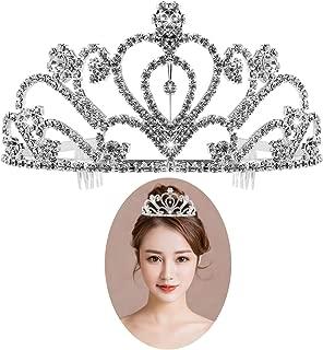 Rhinestone Tiara Crown Exquisite Headband Comb Pin Wedding Bridal Veil Birthday Tiaras