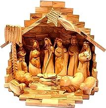 Medium Crib + Nativity Set Made in Olivewood From Bethlehem