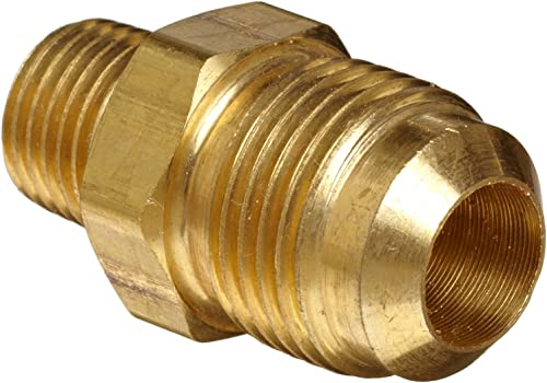 "Anderson Metals Brass Tube Fitting, Half-Union, 1/2"" Flare x 3/8"" Male Pipe"