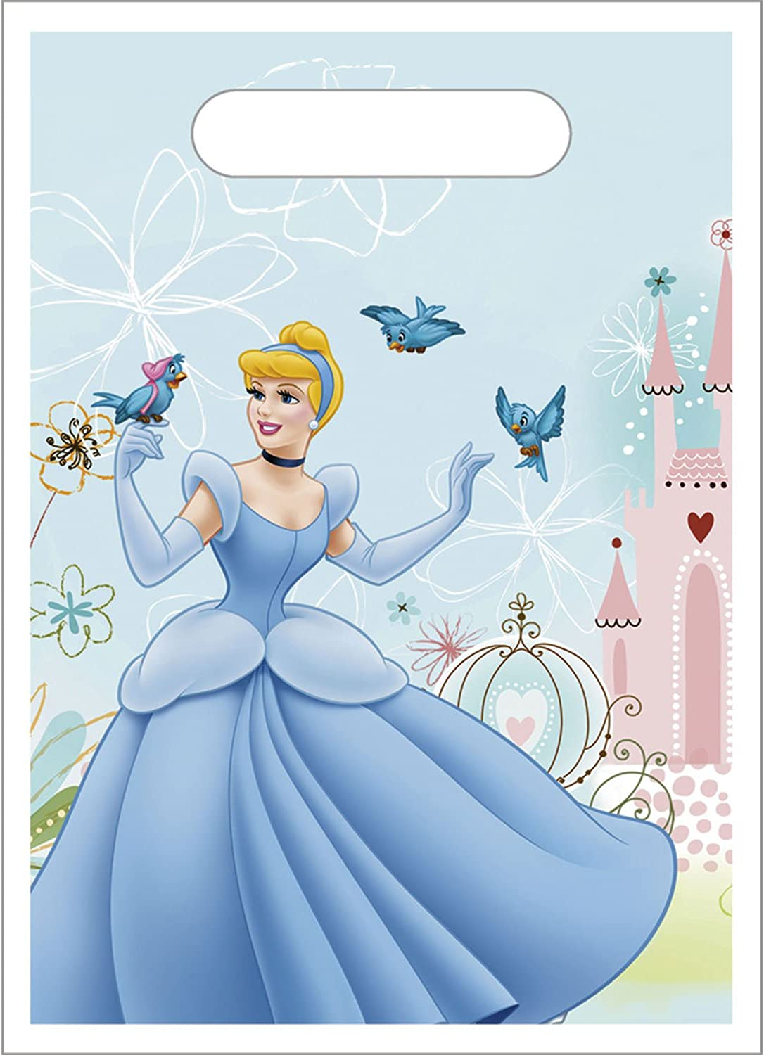 Factory Card And Party Outlet Cinderella Loot Bags 8Ct