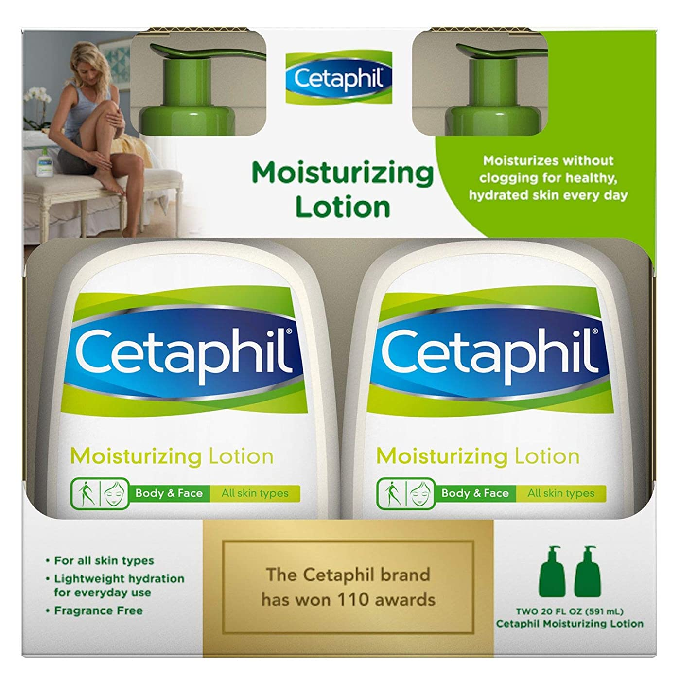 独占燃やす趣味セタフィル モイスチャライジングローション 591ml 2本セット Cetaphil Moisturizing Lotion 20oz twin pack