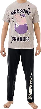 Peppa Pig Mens Grandpa Pig Pyjamas