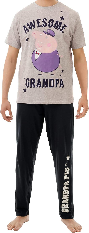Peppa Pig Mens Grandpa Pig Pajamas