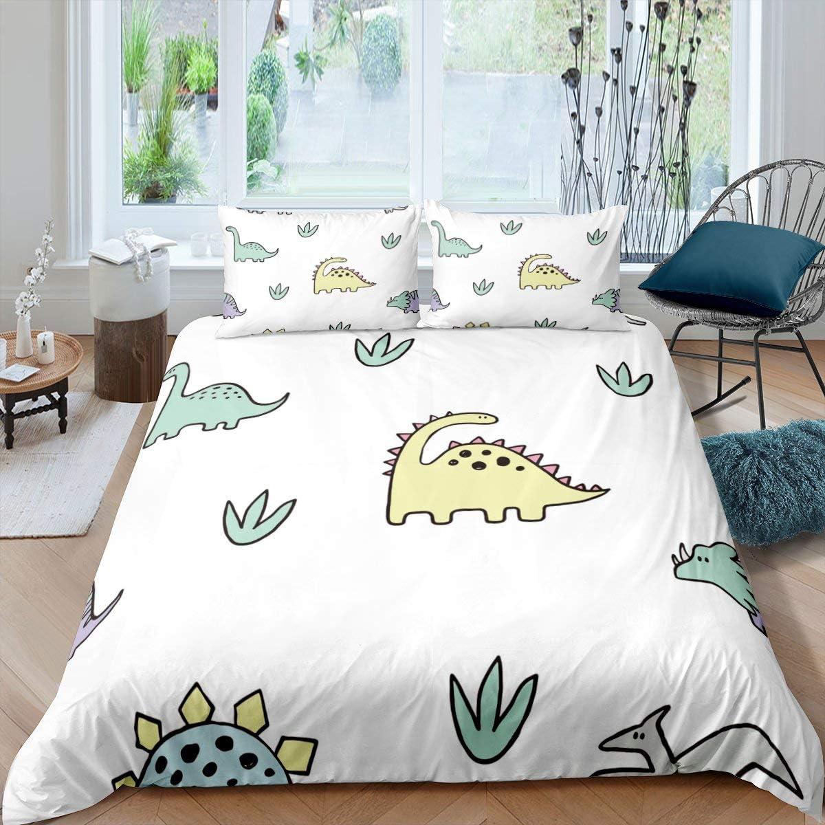 Erosebridal Dinosaur 送料無料激安祭 Duvet 激安 Cover Cartoon Comforter Cove