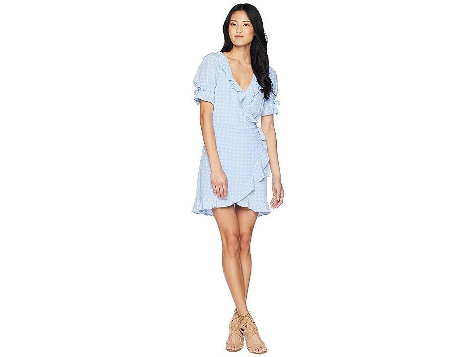 For Love and Lemons Sweetheart Wrap Mini Dress (Periwinkle) Women