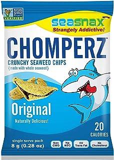 SeaSnax Mini Chomperz Crunchy Seaweed Chips Original, 0.28 oz (Pack of 5)