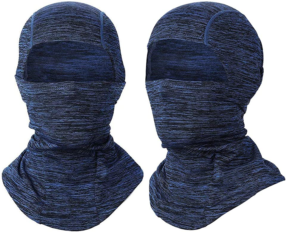 SGODD Motorcycle Balaclava, Ski Face Mask, Unisex Winter Fleece Neck Cover, Waterproof Windproof Protection for Ski, Motorcycle, Cycling, Running, Hiking - Universal Size (Blue)