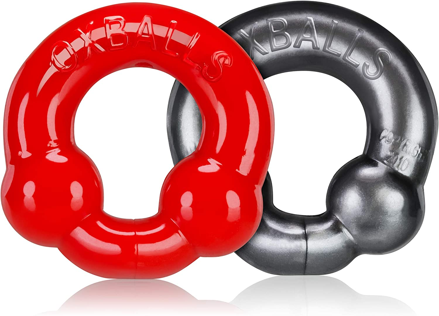 Ultraballs Purchase 2-Piece Cockring Set Steel 1 year warranty Red -