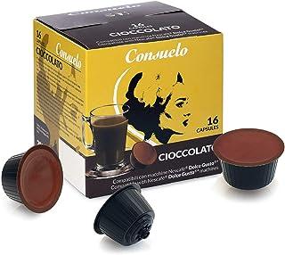 Consuelo - Lot de 96 (16x6) capsules compatibles avec machine à café Dolce Gusto* - goût chocolat