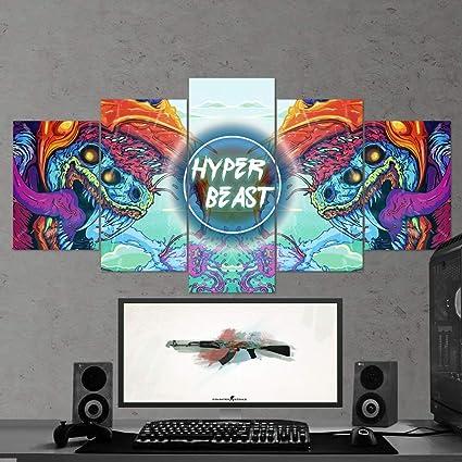 BA-CO Counter Strike Global - Lienzo Decorativo para Pared ...