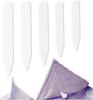 300 Pcs Collar Stays Plastic Collar Stay Bones for Men's Shirt - White, 5 Sizes