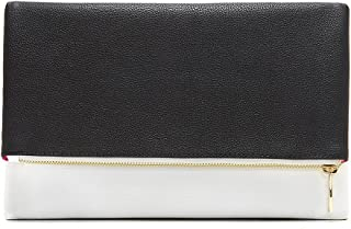 Trendy Designer Metallic Two-Tone Fashion Clutch Purse MSRP $69