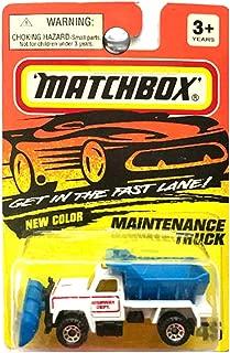 Matchbox Highway Maintenance Truck 45 Plow Dump White and Blue
