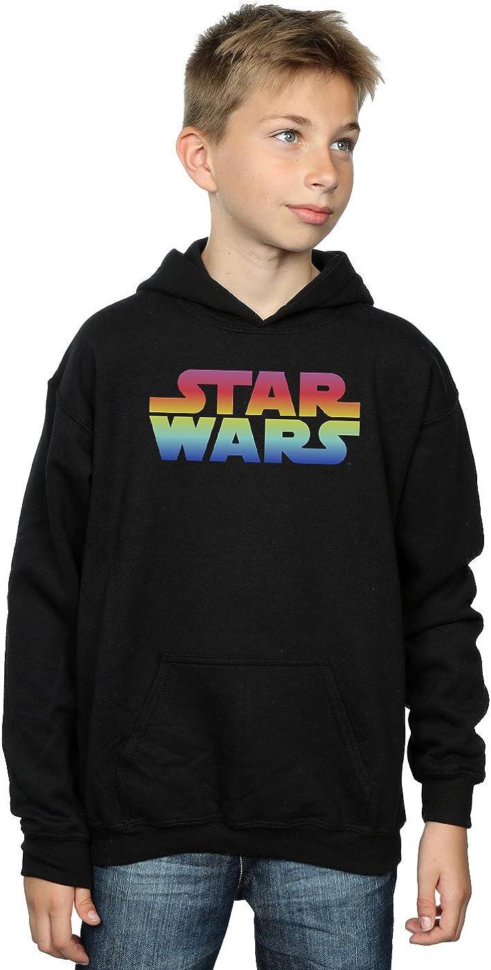 Star Wars Boys Rainbow Logo Hoodie 5-6 Years Black