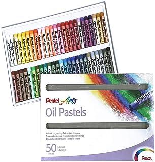 Pentel PHN Pastels à l'huile Boîte de 50 couleurs