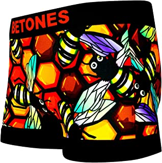 BETONES (ビトーンズ) メンズ ボクサーパンツ BEE BEE dwearsステッカー入り ローライズ アンダーウェア 無地 ブランド 男性 下着 誕生日 プレゼント