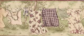 Wallpaper Border Laundry Clothes Line 10.25