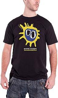Primal Scream T Shirt Screamadelica Album Cover Band Logo Oficial de los hombres