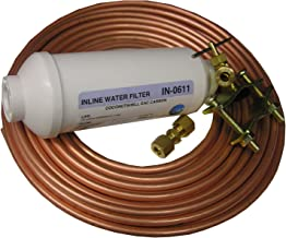 LASCO 37-1831 Inline Ice Maker Install Kit with Filter, Self Tapping Saddle Valve, Assorted Fittings and 1/4-Inch x 15-Feet Copper Tubing