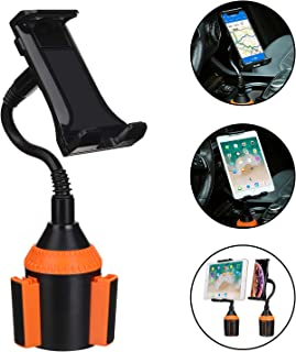 Car Cup Holder Phone Mount, AnsTOP Universal Adjustable Gooseneck Car Holder Cradle Cup Mount for Cell Phone,iPad,iPod,iPhone,Samsung Galaxy,GPS and More (Black&Nectarine)
