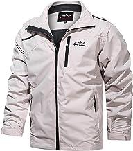 $32 » Letdown Accessories Mens Waterproof Rain Jacket Solid Color Lightweight Windbreaker Outdoor Water Resistant Shell Windproo...