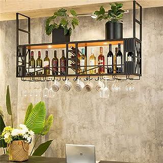 Ybzx Distributeur de vin de Bar Traditionnel monté au Plafond Porte-Bouteille de vin Suspendu Organisateur de Bouteille Mu...
