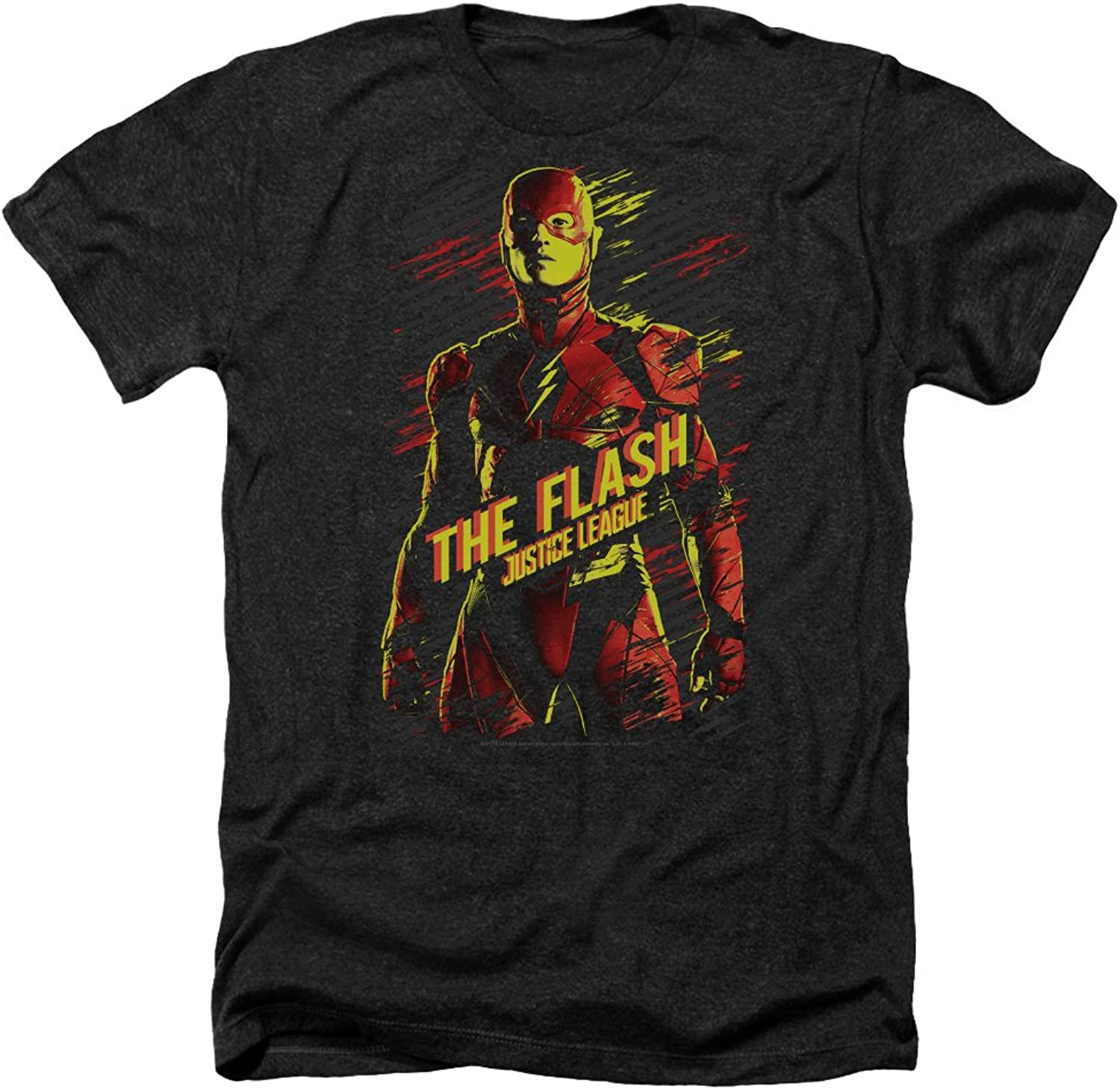 Justice League Movie - Mens The Flash Heather T-Shirt