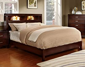 247SHOPATHOME FA-CM7290CH-Q-BED Storage bed Queen Brown cherry