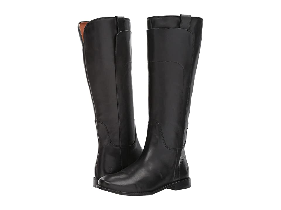 Frye Paige Tall Riding (Black Smooth Vintage Leather) Women's Pull-on Boots