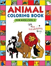 Animal Coloring Book for Kids with The Learning Bugs Vol.2: Fun Children's Coloring Book for Toddlers & Kids Ages 3-8 with 50 Pages to Color & Learn the Animals & Fun Facts About Them