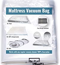 Mattress Vacuum Bag for Moving and Shipping/Returns.Holds Compression for More Than 30 Days, Double Zip Seal & Leakproof V...