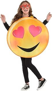 amscan Girls Heart Eyes Smiley Costume - Child Standard