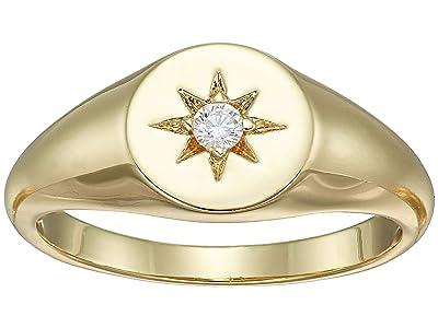 SHASHI Starburst Signet Ring (Gold) Ring