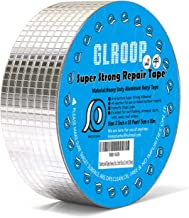 RV Rubber Roof Repair Tape, Aluminum Foil Duct Tape, Perfect for Outdoor Permanent Leak Proof, Water Resistant Patch & Seal Sealant for Gutter, Window, Pipes, Chimney, Roof, Boat (2inchX33 feet)