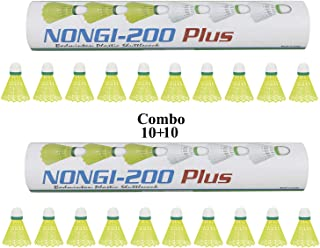 NONGI Plus Plastic Badminton Shuttlecock Pack of 20