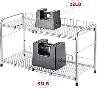 Flagship 2 Tiers Under Sink Strainer Cabinet Shelf Kitchen and Bath Organizer Storage Rack