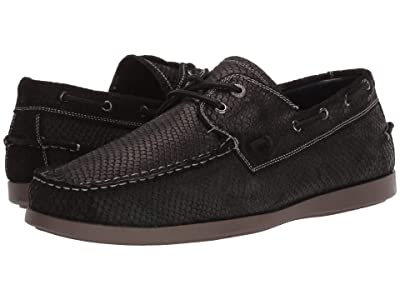 Steve Madden Gametyme Boat Shoe (Black Emboss) Men